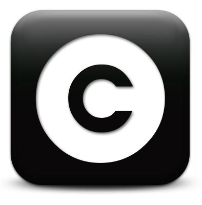 copyright black square