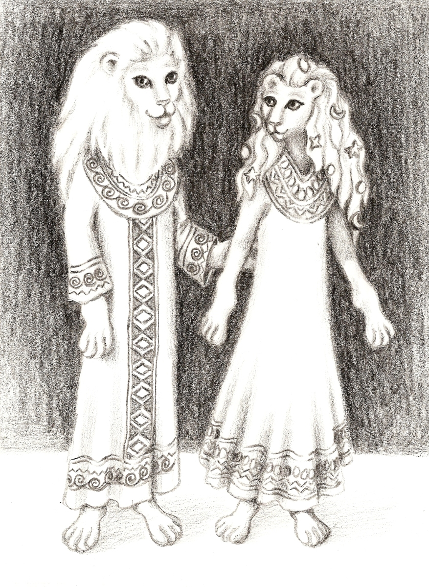 6D Sirian Lion Beings from A Lightworker's Mission by Denise Le Fay