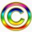 multicolored copyright