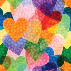 Multicolored Hearts 800x800