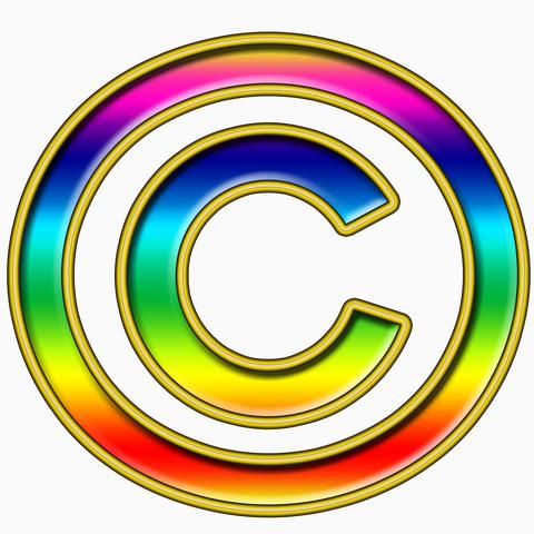 multicolored copyright 2