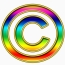 multicolored copyright 2